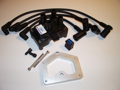 Twin Kam / 5 Port Ignition Coil, Leads and Bracket