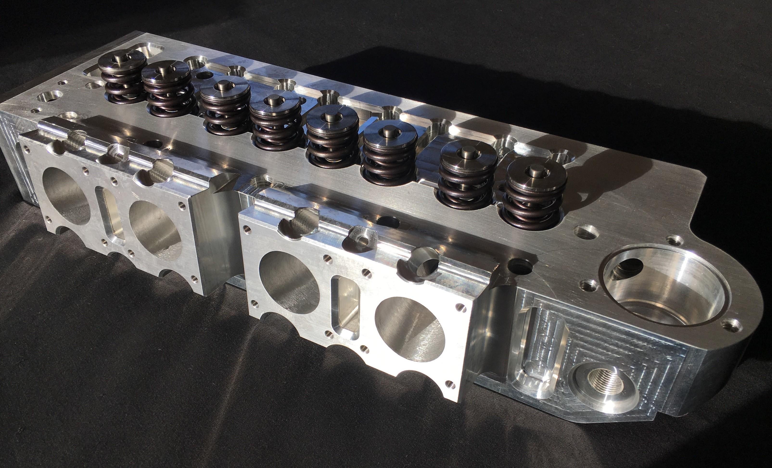 Billet Cylinder Heads : Sc billet alloy a series port cylinder head and